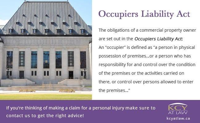 Occupiers' Liability - Personal Injury Lawyer