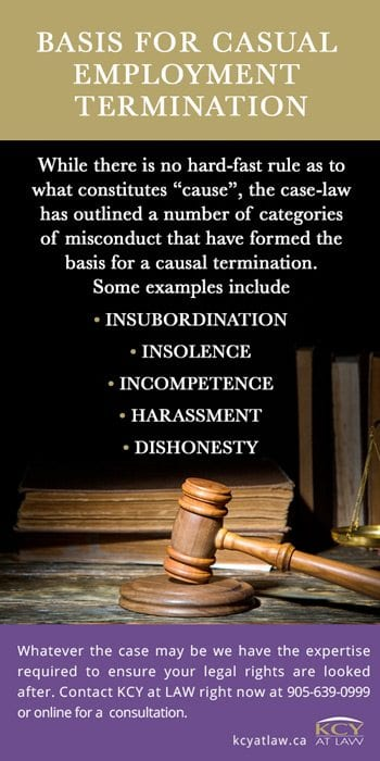 Basis for Casual Employment Termination - Just Cause for Dismissal