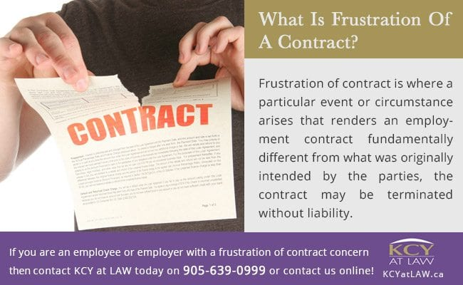 What Is Frustration Of Contract - KCY at LAW