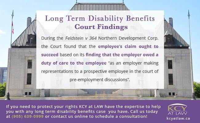 Long Term Disability Benefits Ontario Court Findings - KCY at LAW