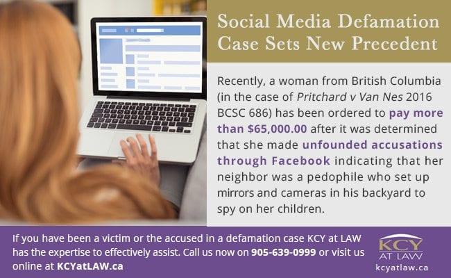 Social Media Defamation Case - Defamation Case Payout Canada