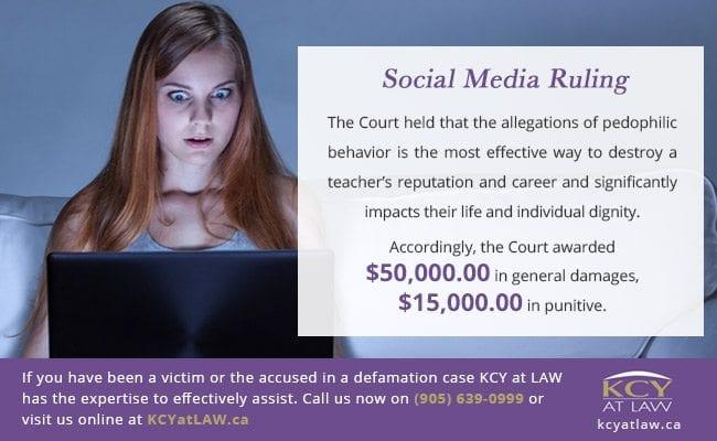 Social Media Defamation Case Ruling - KCY at Law