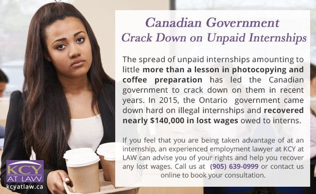 Canadian Government Crack Down on Unpaid Internships