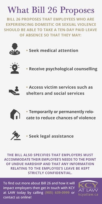 What Is Bill 26 - Domestic Violence - Employment Lawyer - KCY at LAW