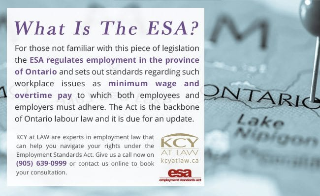 What Is the ESA - Employment Standards Act