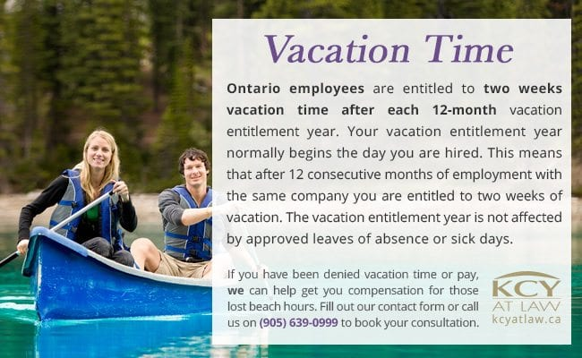 Vacation Time Ontario - Calculating Vacation Pay