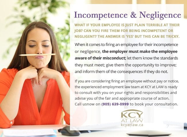 Just Cause for Dismissal - Incompetence and Negligence