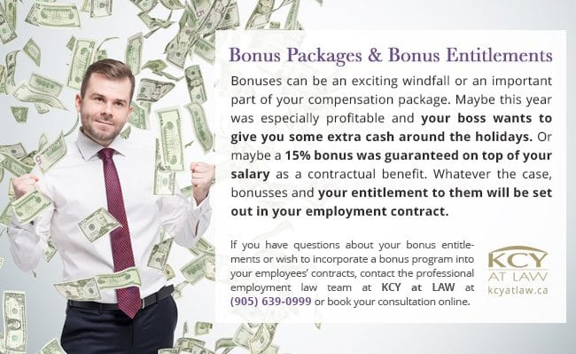 Bonus Packages and Entitlements - KCY at LAW