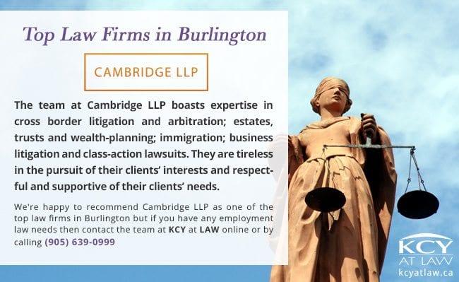 Top Law Firms in Burlington - Cambridge LLP - Employment Lawyer Burlington