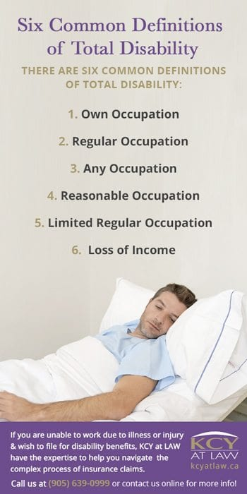 Common Definitions of Total Disability - Employment Lawyer Burlington - KCY at LAW