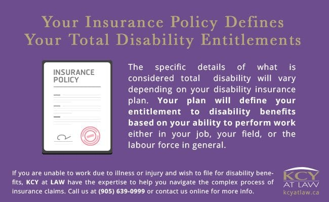 Insurance Policies and Total Disability Entitlements - KCY at LAW