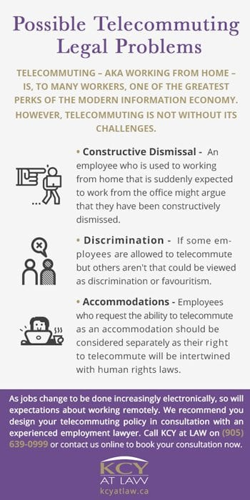 Telecommuting in Canada - Legal Issues With Telecommuting - KCY at LAW