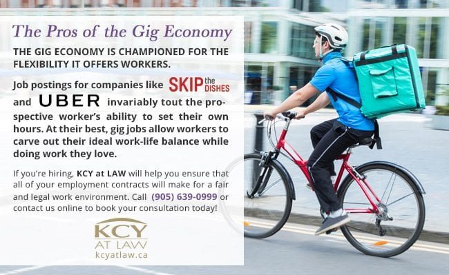 Pros of the Gig Economy in Canada - KCY at LAW Employment Lawyers