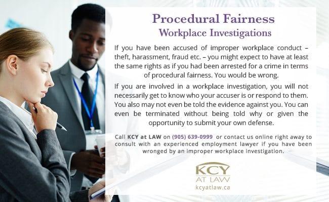 Procedural Fairness in Workplace Investigation