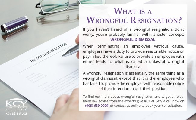 What is wrongful Resignation - KCY at LAW